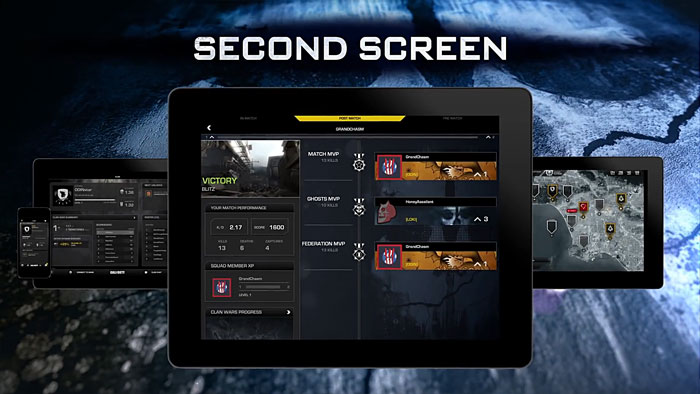 cod app how to use second screen