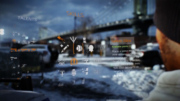 tom clancy's skills and talents in the division